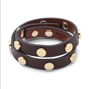 Tory Burch Patent Leather Double Wrap Bracelet